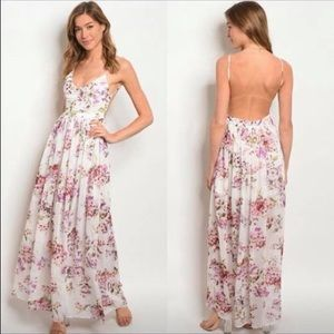 Dresses & Skirts - SOLD!! Floral backless maxi dress